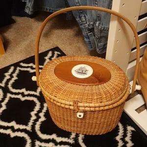 Rare vintage Nantucket basket purse